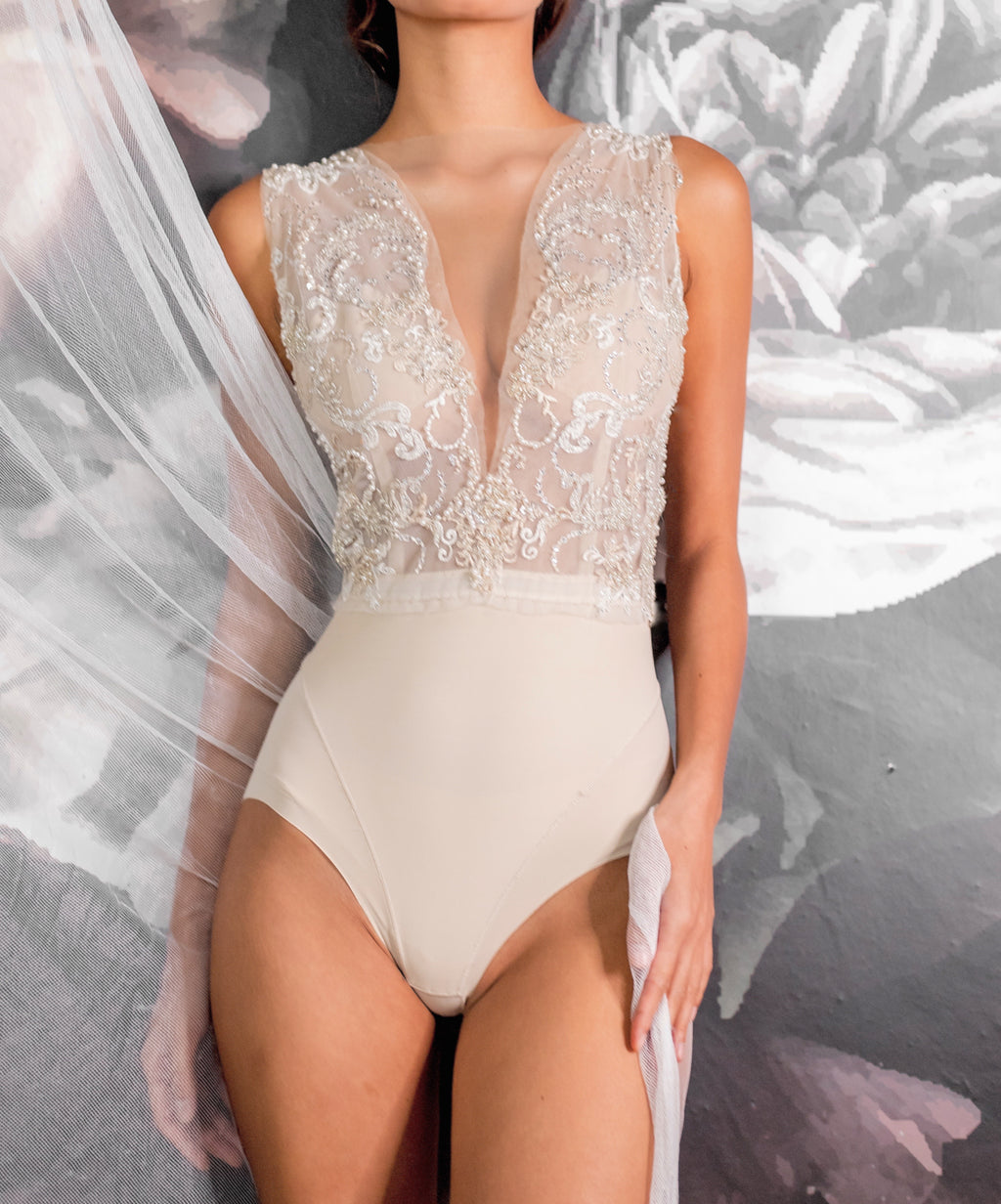 """Ever After"" Premium Bodysuit - Elizabeth Grace Couture"