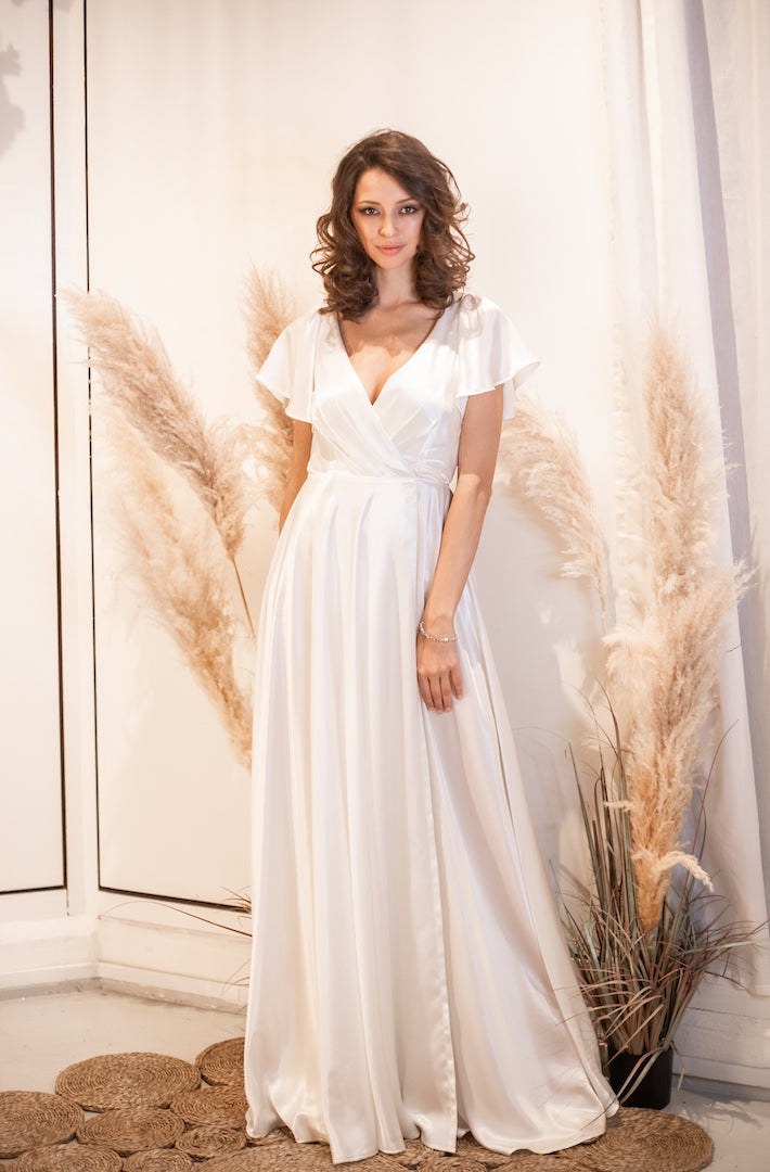 """Charlize"" Grecian style wedding gown - Elizabeth Grace Couture"