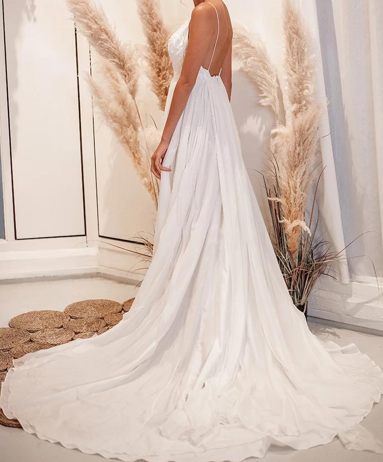 "Elizabeth Grace Couture ""Arlo"" Boho Wedding Gown"