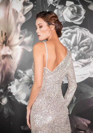 "Elizabeth Grace Couture ""Victoria"" Sparkly Evening Dress"