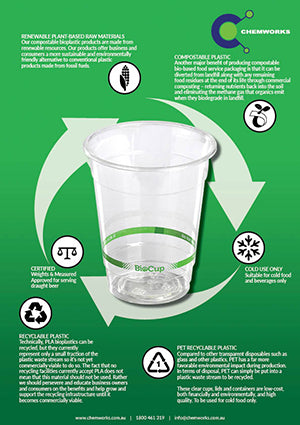 Environmentally Friendly Packaging - BioPlastic Cups