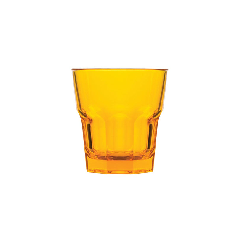 0315624-TR Polysafe Rocks Tumbler Stackable Yellow Chemworks Hospitality