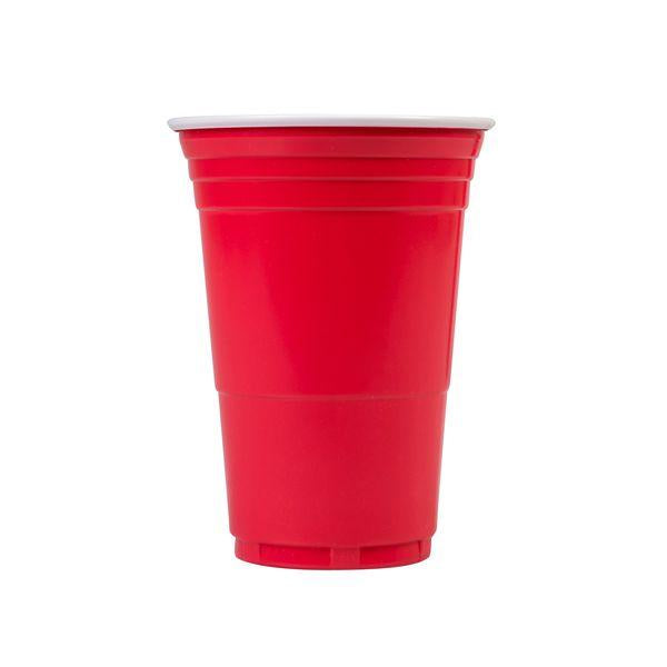 0396042-TR The Big Cup Co. Disposable Cup Pet Plastic Red With White Interior 425ml Chemworks Hospitality Canberra