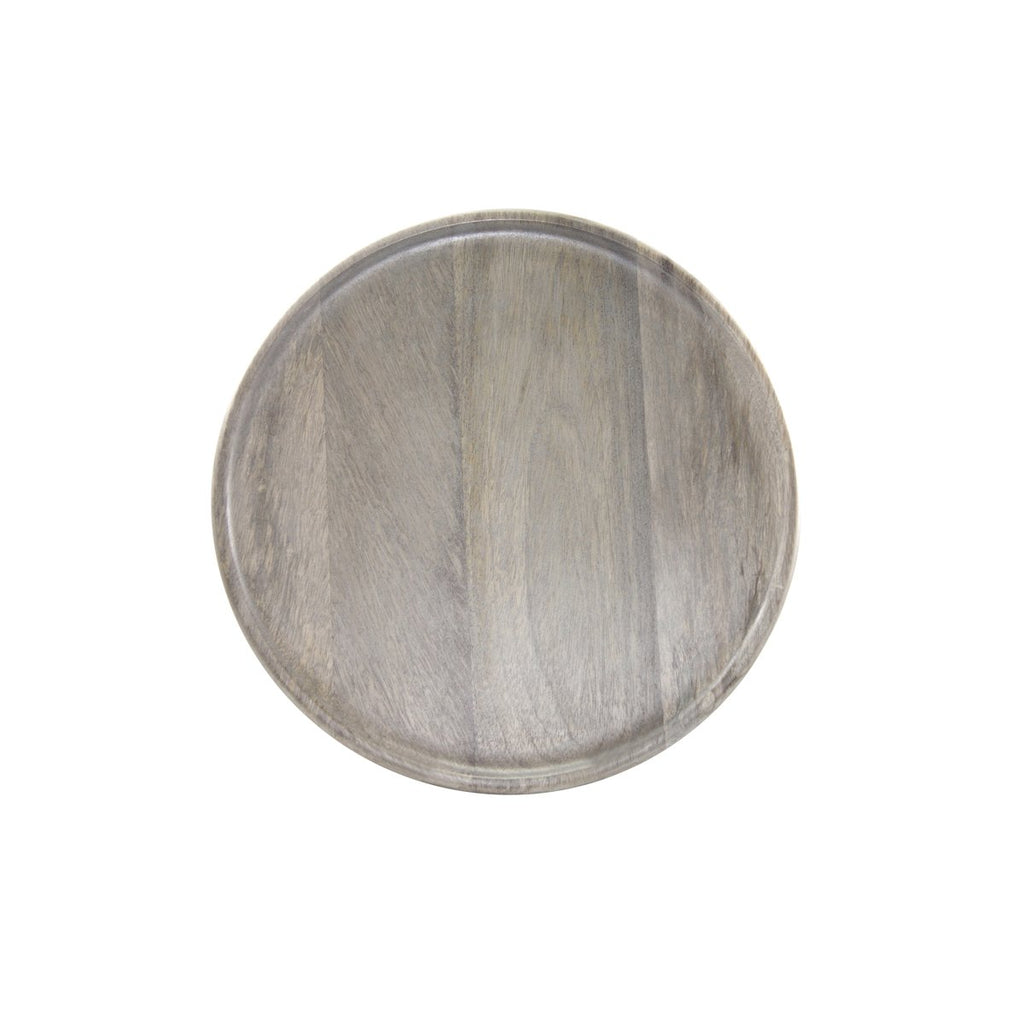 04840-T Chef Inox Round Serving Board Grey 300mm
