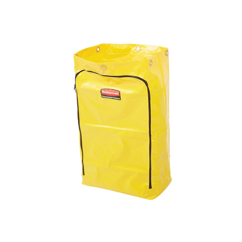 1966881 Rubbermaid Janitor Cart - Yellow Replacement Bag 128Lt Replacement Vinyl Bag Chemworks Hospitality Canberra