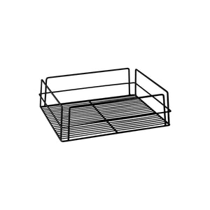 30602-BK-TR Glass Basket - Rectangular Black Pvc Coated Chemworks Hospitality