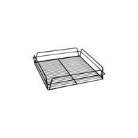 30605-BK-TR Glass Basket - Square Black Pvc Coated Chemworks Hospitality