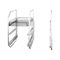 30830-L-TR 3 Tier Under Bar Rack - Left Aluminium