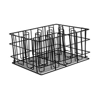 30912-TR 12 Compartment Glass Basket Black Pvc Coated Compartment Size: 110 x 105mm Chemworks Hospitality