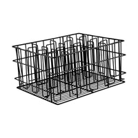 30916-TR 16 Compartment Glass Basket Black Pvc Coated Compartment Size: 105 x 75mm Chemworks Hospitality