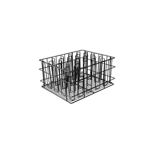 30920-TR 20 Compartment Glass Basket Black Pvc Coated Compartment Size: 80 x 80mm Chemworks Hospitality