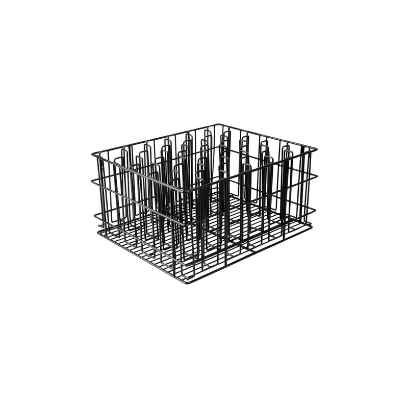 30930-TR 30 Compartment Glass Basket Black Pvc Coated Compartment Size: 60 x 60mm Chemworks Hospitality