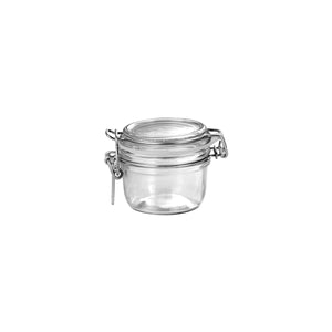 340-008-T Bormioli Rocco Jar with Hinge Lid - Glass 125ml