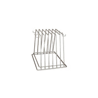 40309-H-TR Cutting Board Rack Chrome Plated | Reinforced Base 6 Slot with Hooks Chemworks Hospitality