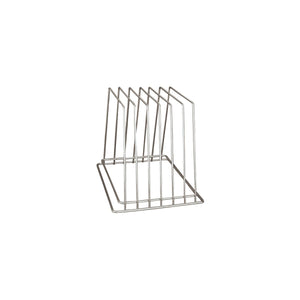 40309-TR Cutting Board Rack Chrome Plated | Reinforced Base 6 Slot Chemworks Hospitality