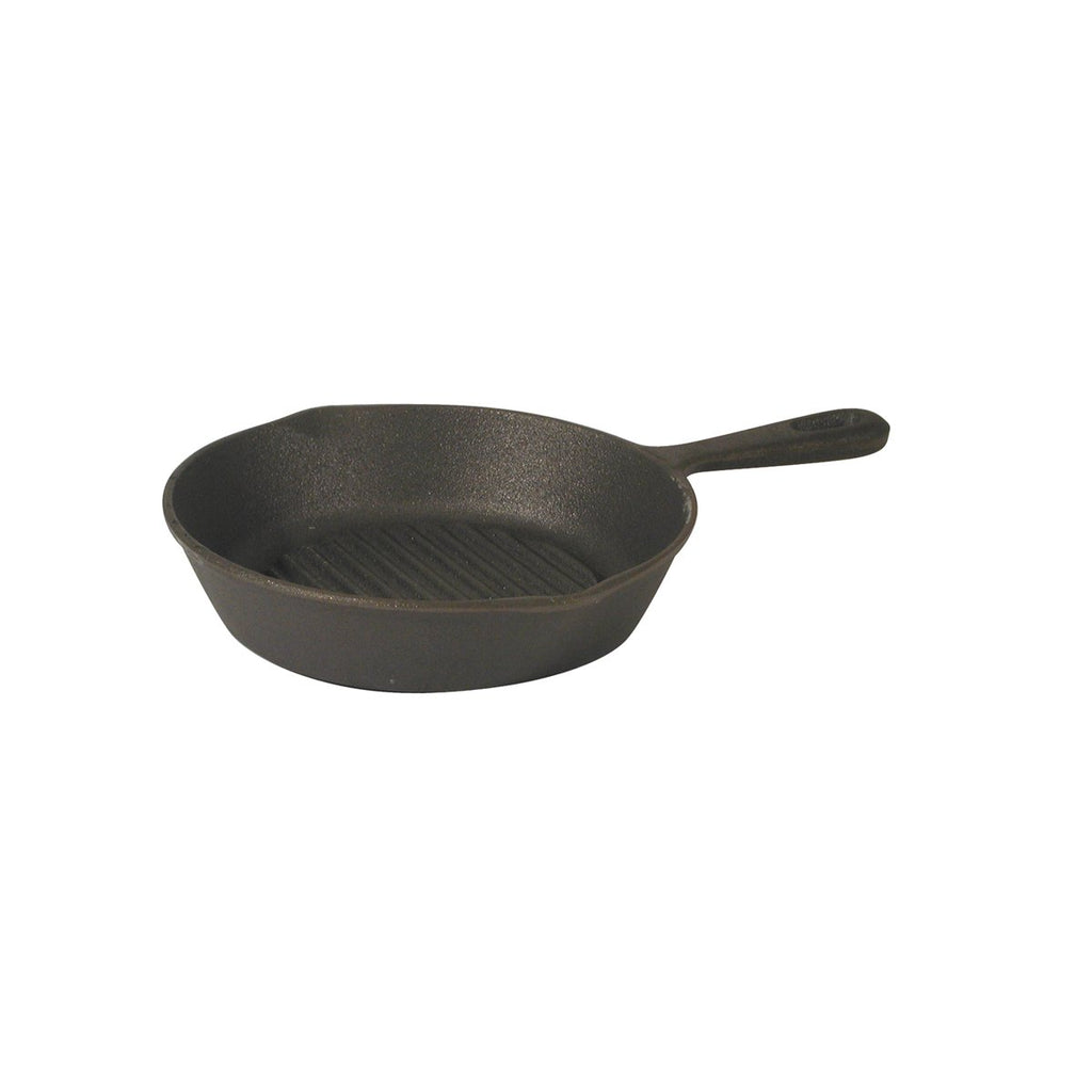 Round Skillet Ribbed Cast Iron Chemworks Hospitality Supplies Canberra