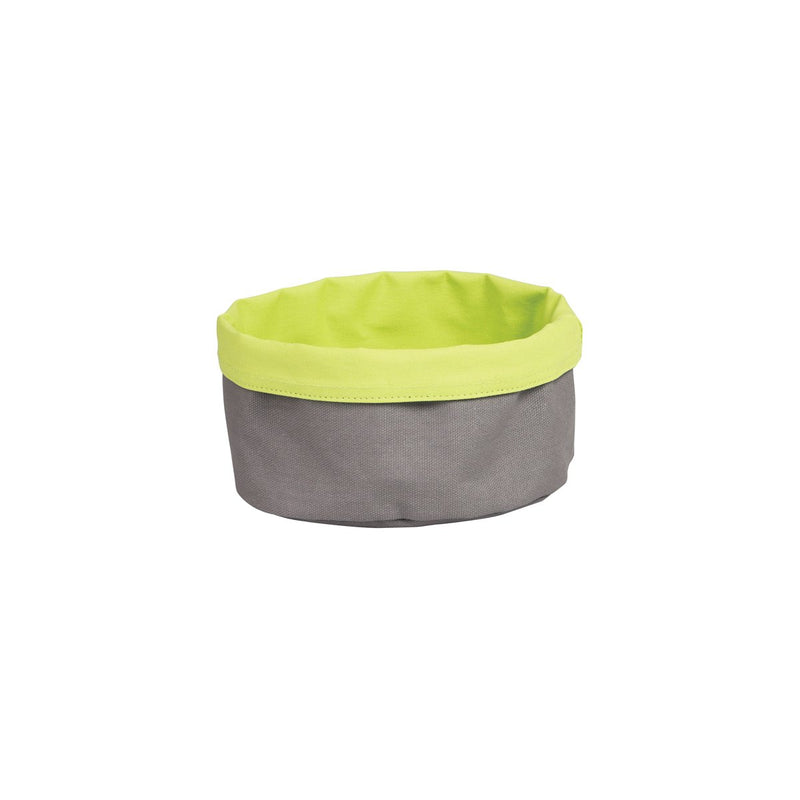 41620-L-TR Canvas Bag - Round Charcoal / Lime 200x90mm