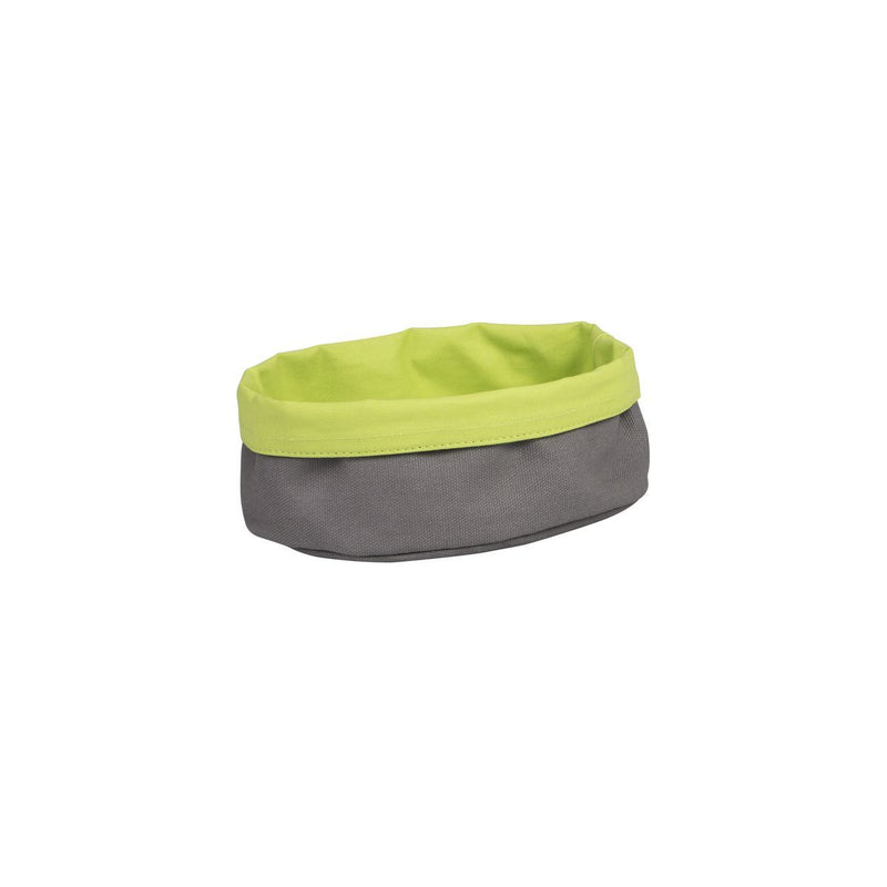 41640-L-TR Canvas Bag - Oval Charcoal / Lime 200x150x70mm