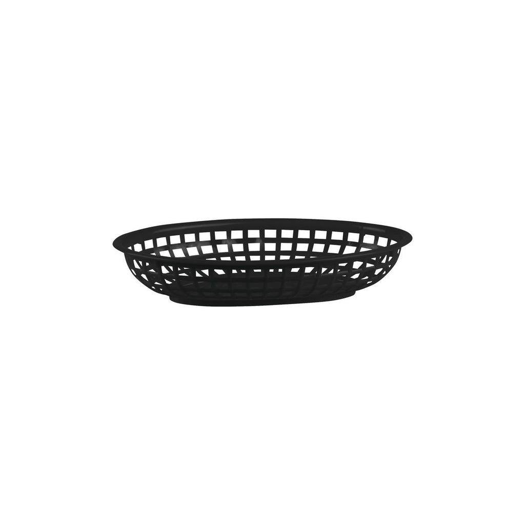 41800-BK-TR Serving Basket - Oval Polypropylene Black 240x150x50mm