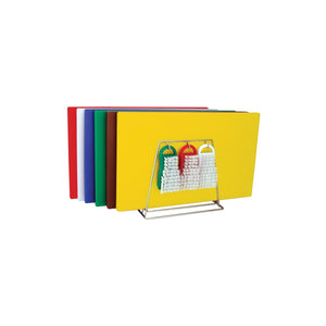 48082-TR Colour Coded System Including Boards, Tongs, Brushes & Rack 300x450x13mm Chemworks Hospitality