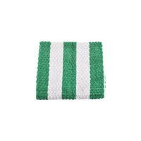 5STS-GN Bar Towel 100% Cotton Green & White Stripe
