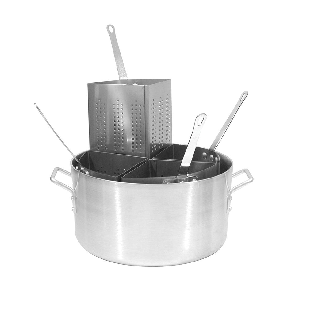 61500-TR Pasta Cooker 20Ltr Aluminum Pot Complete With 4 Stainless Steel Inserts Chemworks Hospitality Supplies Canberra