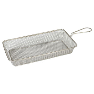 73731-TR Moda Rectangular Service Basket  Stainless Steel 280x150x50mm Chemworks Hospitality Supplies Canberra