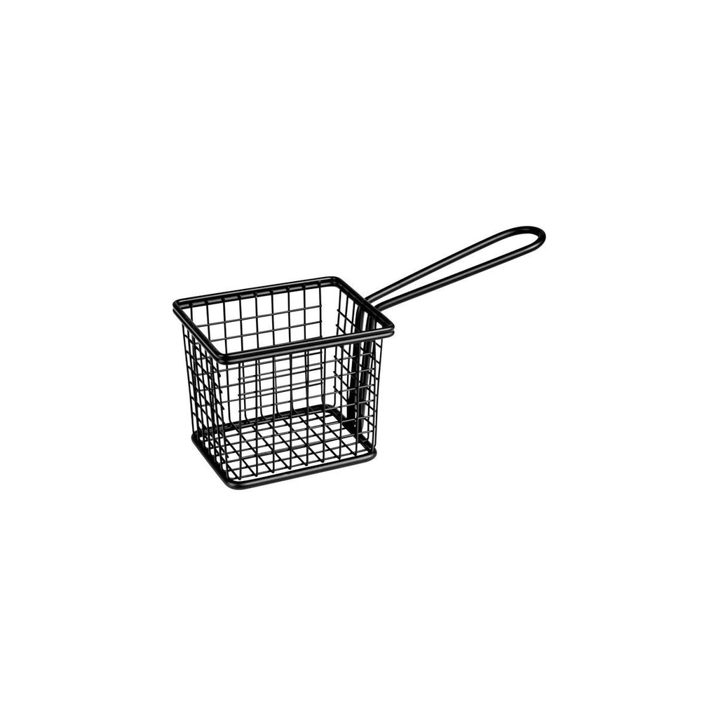73820-BK-TR Moda Rectangular Service Basket  Black 94x78x80mm Chemworks Hospitality Supplies Canberra