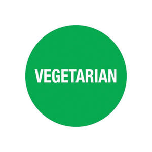 75090 Vegetarian Sticker Removable Chemworks Hospitality