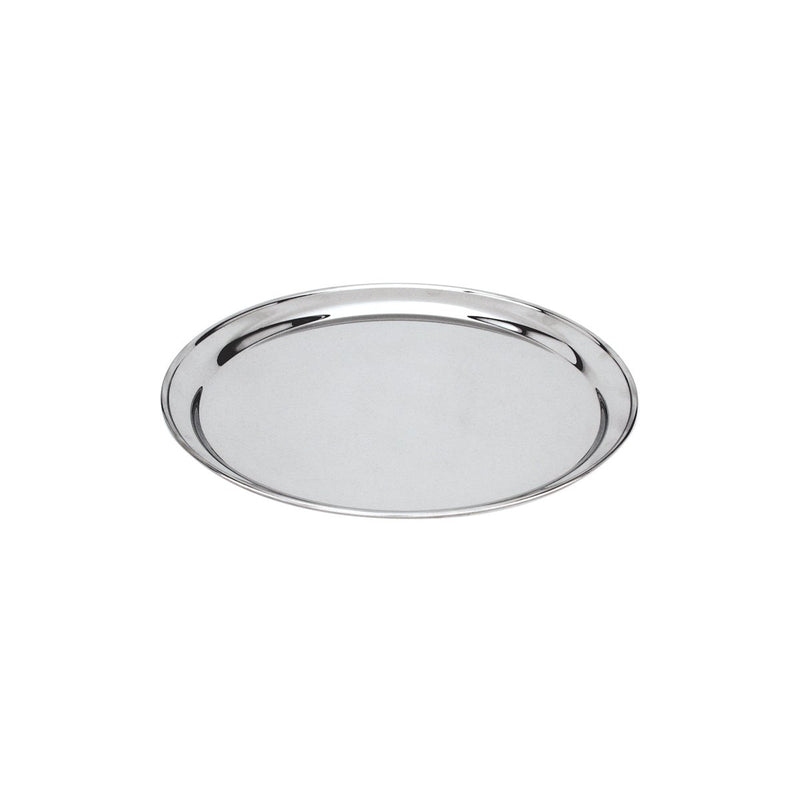 76125-TR Round Tray / Platter 18/8 Stainless Steel | Heavy Duty | Rolled Edge 250mm