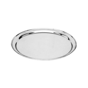 76135-TR Round Tray / Platter 18/8 Stainless Steel | Heavy Duty | Rolled Edge 350mm