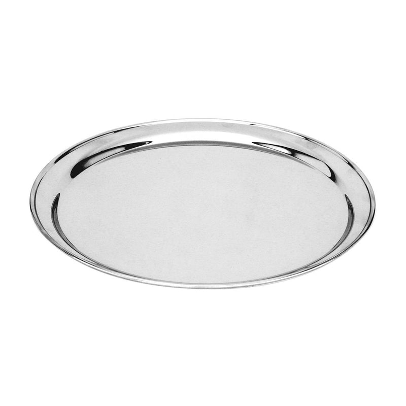 76140-TR Round Tray / Platter 18/8 Stainless Steel | Heavy Duty | Rolled Edge 400mm