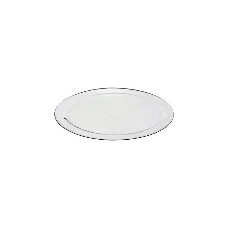 76310-TR Oval Platter 18/8 Stainless Steel | Heavy Duty | Rolled Edge 250mm