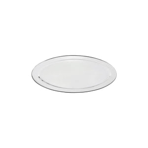 76312-TR Oval Platter 18/8 Stainless Steel | Heavy Duty | Rolled Edge 300mm