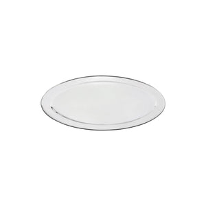 76314-TR Oval Platter 18/8 Stainless Steel | Heavy Duty | Rolled Edge 350mm
