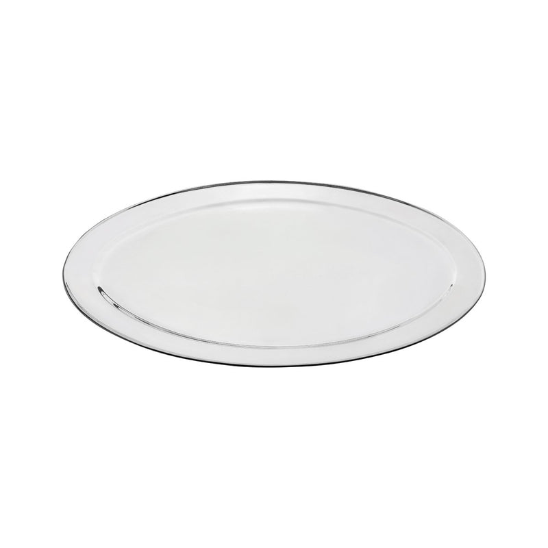 76324-TR Oval Platter 18/8 Stainless Steel | Heavy Duty | Rolled Edge 600mm