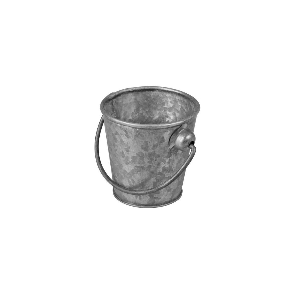 76601-TR Moda Brooklyn Mini Pail Galvanised 330ml  Chemworks Hospitality Supplies Canberra
