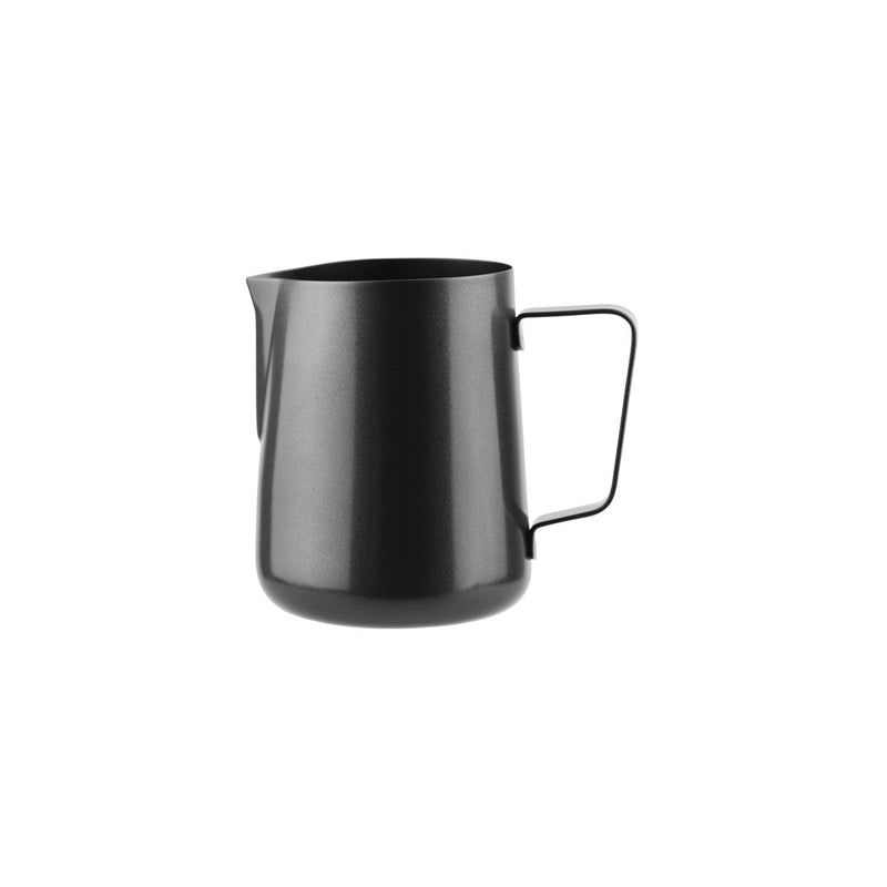 79380-BK-TR Water / Milk Frothing Jug Black 18/10 Stainless Steel | Regular Handle 400ml