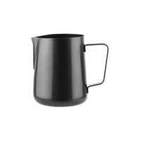 79382-BK-TR Water / Milk Frothing Jug Black 18/10 Stainless Steel | Regular Handle 1000ml