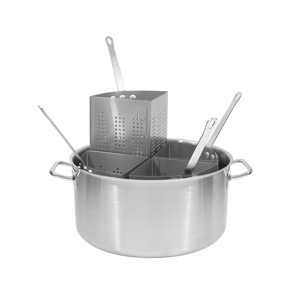 79500-TR Pasta Cooker 20Ltr 18/10 Stainless Steel Pot Complete With 4 Stainless Steel Inserts Chemworks Hospitality Supplies Canberra