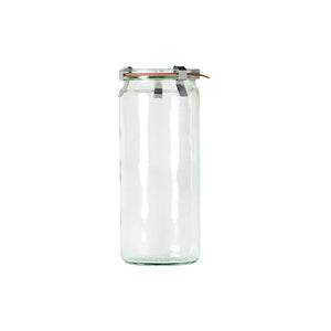 82384-T Weck Cylinder Bottle with Lid Glass with Rubber Seal 340ml