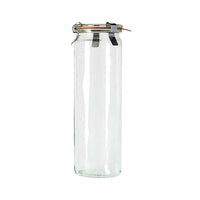 82385-T Weck Cylinder Bottle with Lid Glass with Rubber Seal 600ml
