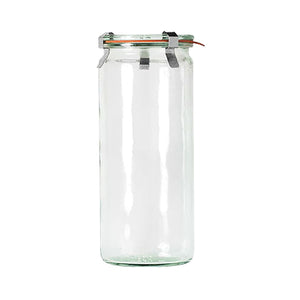 82386-T Weck Cylinder Bottle with Lid Glass with Rubber Seal 1040ml