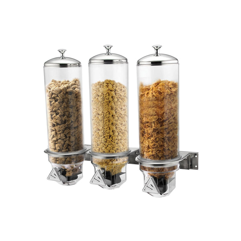 83054-TR Sunnex Beverage Dispensers Wall Mounted Cereal Dispenser 560x185x480mm / 3x4lt Chemworks Hospitality Canberra