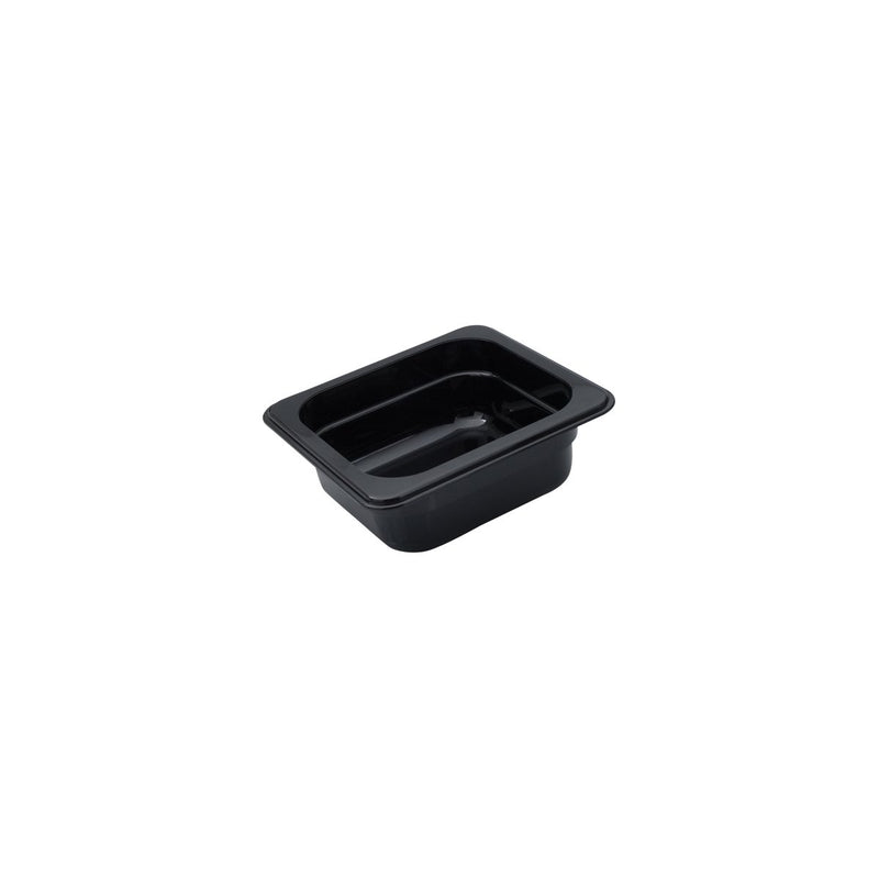 850604-TR 1/6 Size Polycarbonate Food Pan - Black 1.53Ltr Chemworks Hospitality