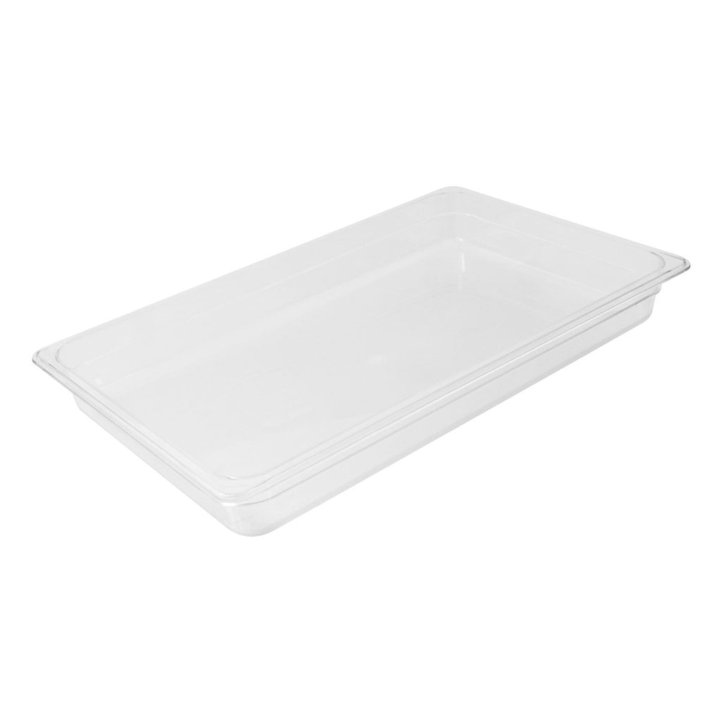 852102-TR 1/1 Size Polycarbonate Food Pan - Clear Chemworks Hospitality