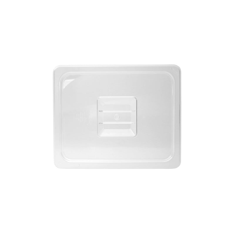 852200-TR 1/2 Size Steam Pan Cover - Clear Polycarbonate, Solid Chemworks Hospitality