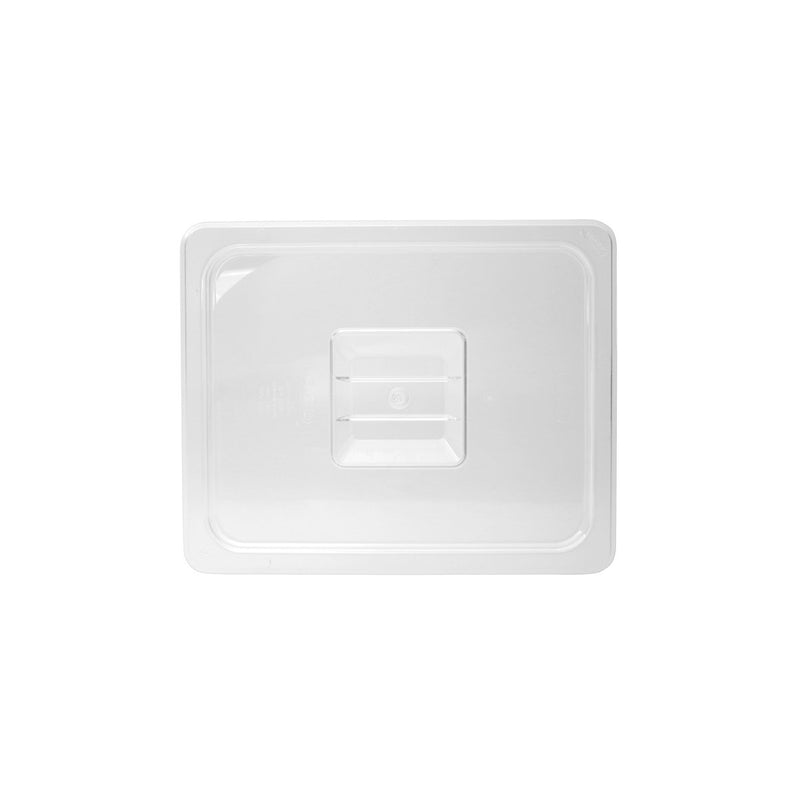 852400-TR 1/4 Size Steam Pan Cover - Clear Polycarbonate, Solid Chemworks Hospitality