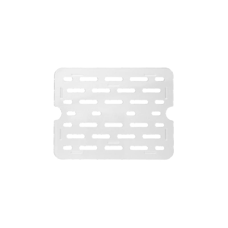 852610-TR Drain Plate Clear 1/6 Size Chemworks Hospitality