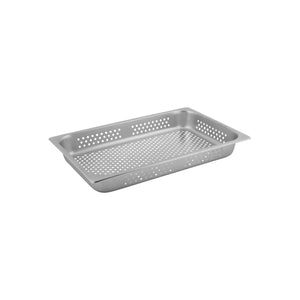 8711021-TR 1/1 Size Perforated Steam Pan Stainless Steel Chemworks Hospitality